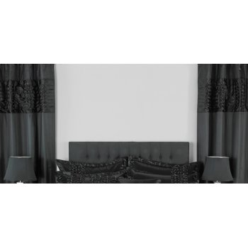 Riva paoletti Monte carlo black readymade eyelet curtains