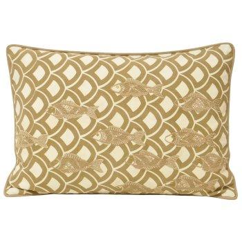 Riva paoletti Ionia driftwood blue scallop cushion cover 35cm x 50cm