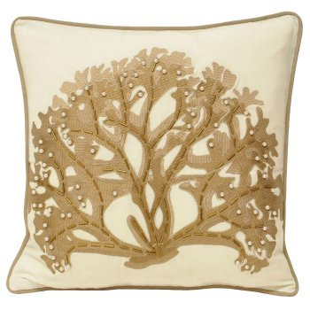 Riva paoletti Ionia driftwood coral reef cushion 45cm