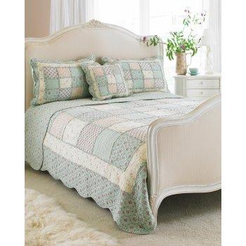 Riva paoletti Avignon duckegg country patchwork bedspread