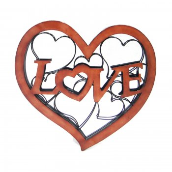 Novus imports Love Heart Mirror Wall Art