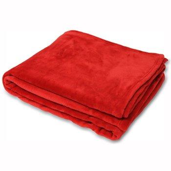 Riva paoletti Colorado faux fur throw,red, 140x180cm