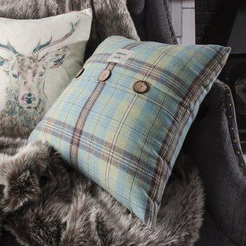 Kilburn and Scott Harrison duckegg feather filled cushion, 45cm