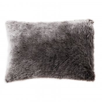 Kilburn and Scott Wolf chocolate fur oblong feather filled cushion