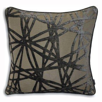 Riva paoletti Diverse black grey criss cross cushion cover 45cm