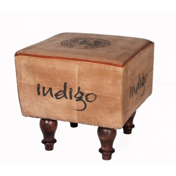 Indian hub Indigo retro pouffe