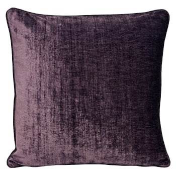 Riva paoletti Wellesley plum velvet chenille cushion cover, 45cm