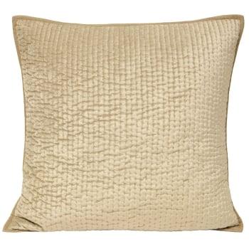 Riva paoletti Brooklands champagne velvet cushion cover, 55cm