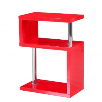 Mfs furniture Miami red high gloss side table
