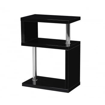 Mfs furniture Miami black high gloss side table