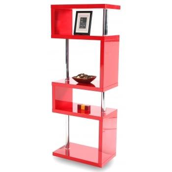 Mfs furniture Miami red 5 tier high gloss display shelf