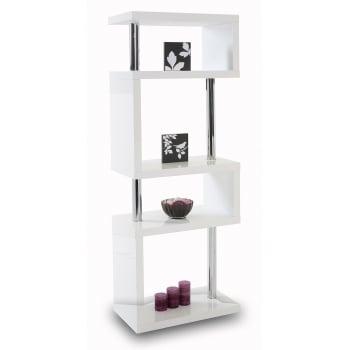 Mfs furniture Miami white 5 tier high gloss display shelf