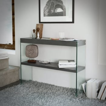 Emporium home waverley grey high gloss console table
