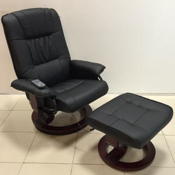 Fairmont furniture Nice black recliner massage chair with footstool