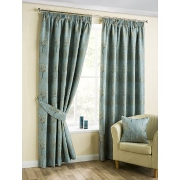 Belfield furnishings Arden duckegg pencil readymade curtains