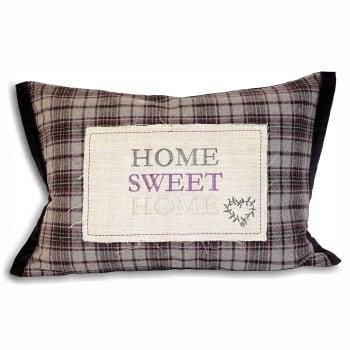Riva paoletti Home sweet home plum check cover, 35x50cm
