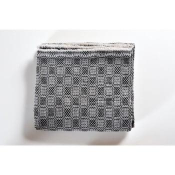 Panache handicraft Cashmere grey geometric woven throw, 138 x 256cm