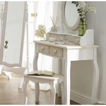 Lpd furniture Juliette white painted dressing mirror