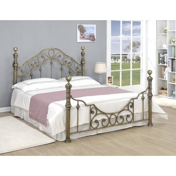 Sleep design Canterbury brass metal traditional bedframe