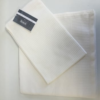 Bedeck Sanctuary champagne waffle hand towel 400gsm