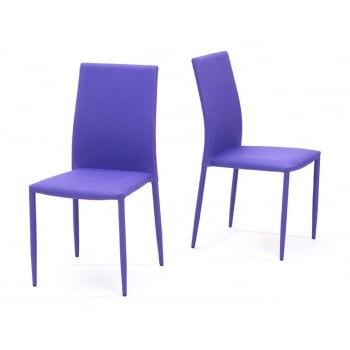 Mark harris Ava purple stackable fabric dining chairs