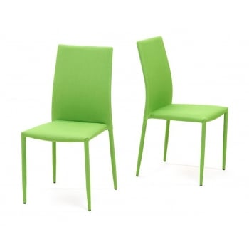 Mark harris Ava green stackable fabric dining chairs