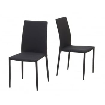 Mark harris Ava black stackable fabric dining chairs