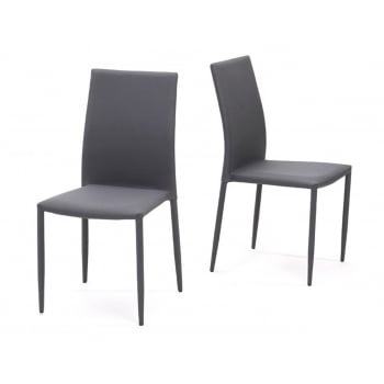 Mark harris Ava grey stackable fabric dining chairs