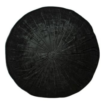 Riva paoletti Wellesley black velvet round cushion