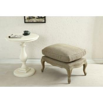 Shankar Louis grande linen upholstered footstool