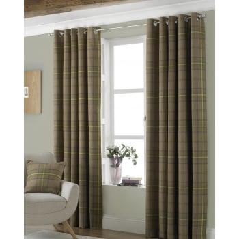 Riva paoletti Aviemore thistle tartan check readymade eyelet curtains