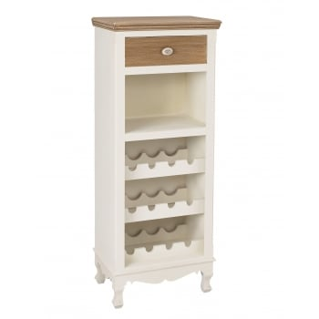 Lpd furniture Juliette white painted wine rack