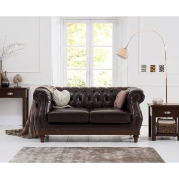 Mark harris Highgrove brown leather 2 seater sofa