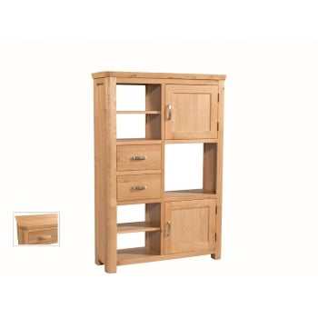 Annaghmore Treviso oak high display unit