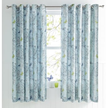 Dreams n drapes Aviana Duck Egg Butterfly Curtains 66x72