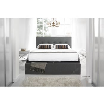 Kaydian Hexham smoke grey fabric bed
