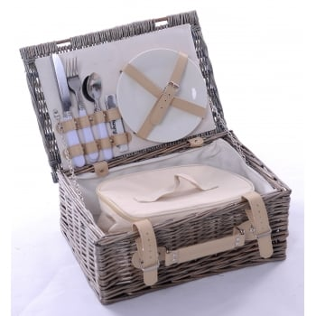 Wicker barn 2 Person Picnic Set with Natural Lining