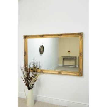 Mirror outlet Abbey gold ornate mirror, 170 x 109cm