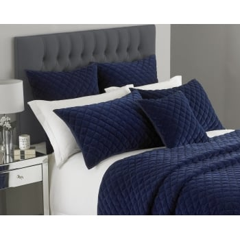 Riva paoletti Turenne deep blue quilted cushion cover, 45cm