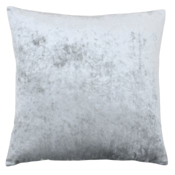 Riva paoletti Verona silver crushed velvet cushion cover 55 x 55cm