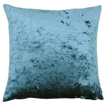 Riva paoletti Verona teal crushed velvet cushion cover 55 x 55cm
