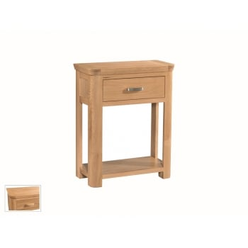 Annaghmore Treviso oak small console table