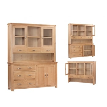 Annaghmore Treviso Oak large buffet hutch