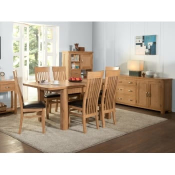 Annaghmore Treviso oak 180cm extension dining set