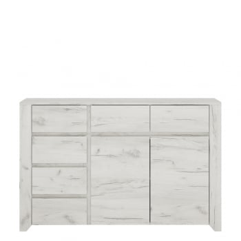 Furniture to go Angel two door 3+3 drawer wide chest