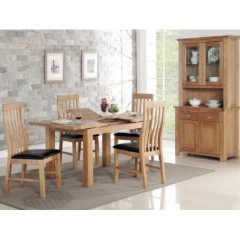 Annaghmore Carlingford 120cm extending dining set