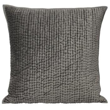 Riva paoletti Brooklands graphite velvet cushion cover, 55cm