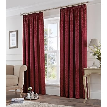 Dreams n drapes Eastbourne burgundy pencil pleating readymade curtain