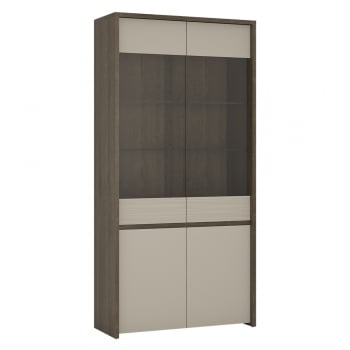 Furniture to go Aspen four door tall glazed led display unit