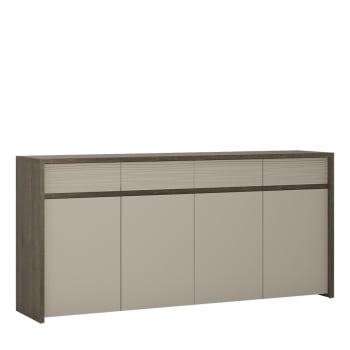 Furniture to go Aspen four door four drawer led sideboard